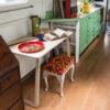 Everything Goes - Fold-Up Table - on narrowboat