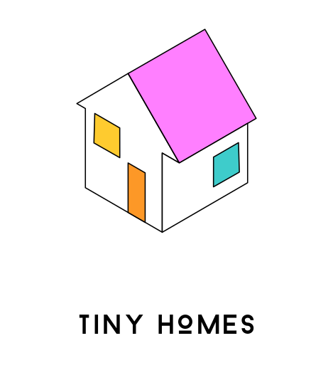 Everything Goes - Tiny Homes Icon with text