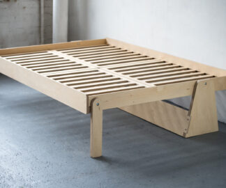 Everything Goes - Fold-Up bed - for boats and small spaces - bed frame in birch ply, shot in studio