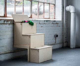 Storage Steps assembled in a studio