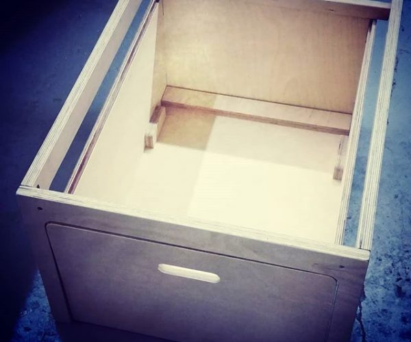 Everything Goes - Dinette for boats and small spaces - storage drawer made of Birch Ply