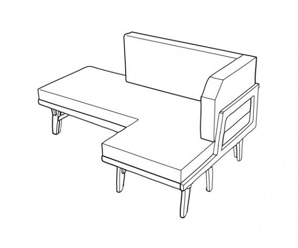 Everything Goes - Sofabed - sofa position. Isometric drawing